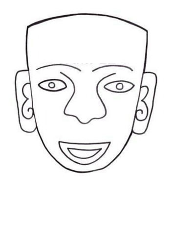 aztec mask template chocolate aztec resources part 2 by paris0504 teaching