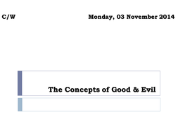 Christian Concepts of Good & Evil
