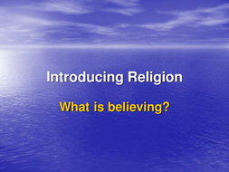 What is believing?