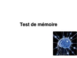 Test de memoire