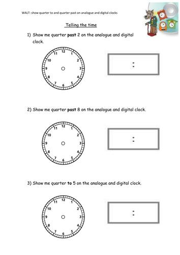 Time Worksheets : time worksheets half past and quarter past Time ...