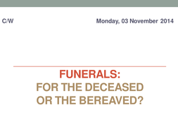 The Purpose of Christian Funerals