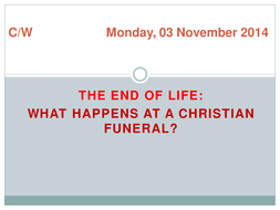 What happens at a Christian funeral service?
