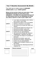 Year 7 belief system marking frontsheet.doc