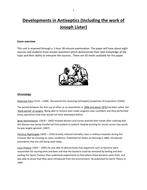 Developments in Antiseptics Source Booklet