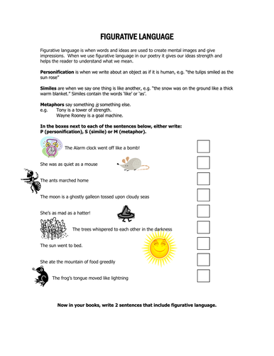 Figurative Language by MathsWhizz91  Teaching Resources  Tes
