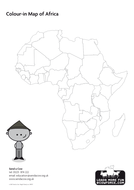 Outline Map Of Africa Blank Map Country Names By Sendacow - Africa outline map pdf