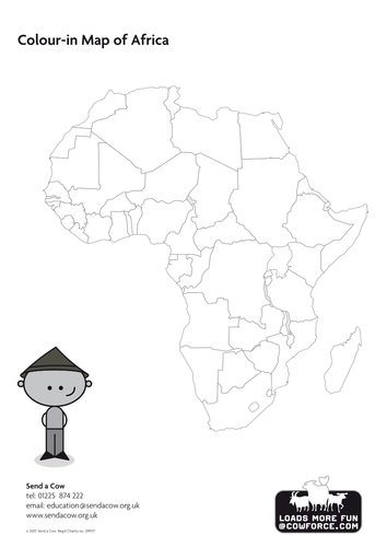 Outline map of africa blank map country names by sendacow outline map of africa blank map country names by sendacow teaching resources tes gumiabroncs Images