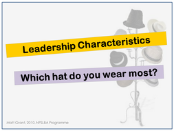 Leadership Characteristics - Heroes, Wizards, Parents, Poets and Athletes.ppt