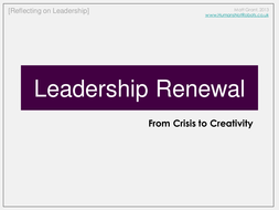 Leadership Renewal - From Crisis to Creativity.ppt
