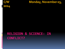 Are religion and science in conflict?