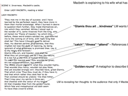 Macbeth: Annotated Powerpoint for Act 1 scene 5