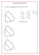 surface area of triangular prisms by ra77 teaching resources tes. Black Bedroom Furniture Sets. Home Design Ideas