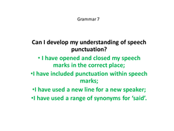 Yr 56 Speech Punctuation By Matthewgreg Teaching Resources Tes