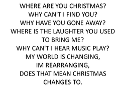WHERE ARE YOU CHRISTMAS.pptx
