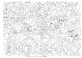 Angry Birds Calculated Colouringpdf