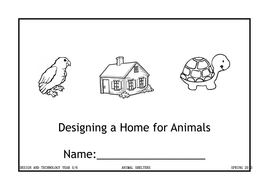 Student booklet for investigating animal shelters by