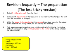 Revision Jeopardy
