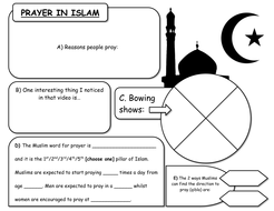 prayer in islam ppt and worsksheet by godwin86 teaching resources. Black Bedroom Furniture Sets. Home Design Ideas