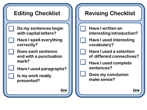spag writing checklists by tesprimary teaching resources tes