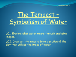 The Tempest - Symbolism of Water