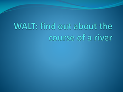The Course of a River (River Nile focus, Year 5/6)