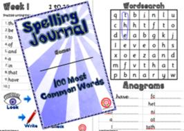 Year 2 Spelling Journal