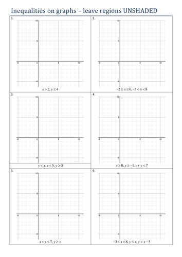 Graphing Linear Inequalities Resources | Tes