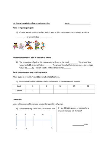 Ratio and Proportion for KS2 by sahara_06 - Teaching Resources - TES