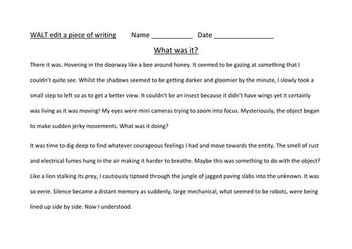 Editing writing making it more interesting by alarter Teaching – Paragraph Editing Worksheets
