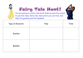 Tally Chart - Fairy Tale Character Hunt
