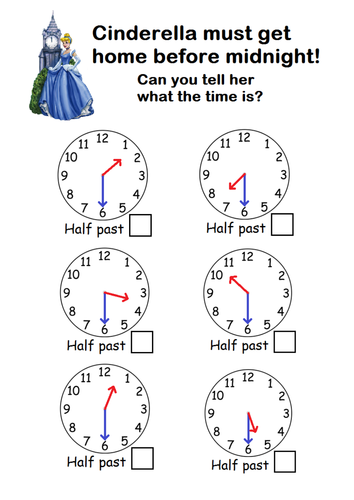 Time Worksheets time worksheets quarter past : Telling the time to o'clock/half past by sophiemhorton - Teaching ...