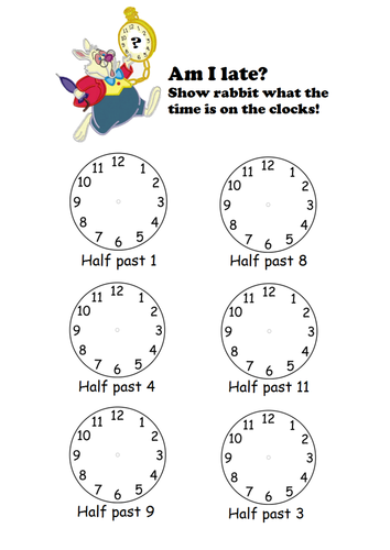 Telling the time to o\'clock/half past by sophiemhorton - Teaching ...
