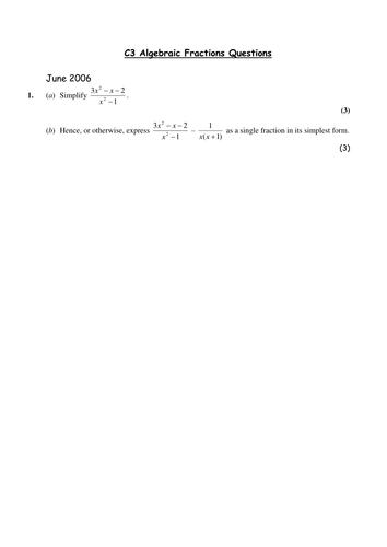 Multiplying Algebraic Fractions Worksheet Tes - Worksheets