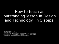 How to teach an outstanding D&T lesson