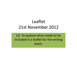 Leaflet writing