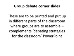 Group debate student instructions SVG.ppt