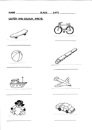 Toys Worksheet For Writng Listening Activity By Picris Teaching