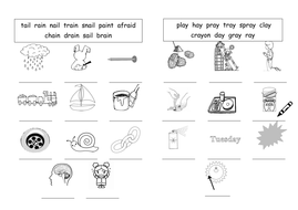 ai ay long A sound worksheets by barang - Teaching Resources - Tes