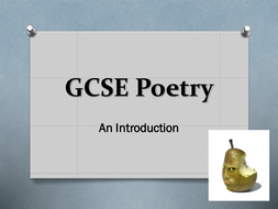 GCSE Introduction to Poetry