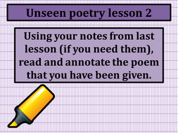 Unseen poetry lessons