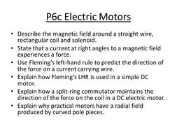 Motors. Fleming\'s Left Hand Rule. by AislingM - Teaching Resources - Tes
