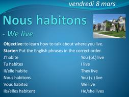 I Live French