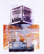 collage art: 'Around Central Station of Rotterdam City'; mono-print, made from her own photos, by Hilly van Eerten.jpg
