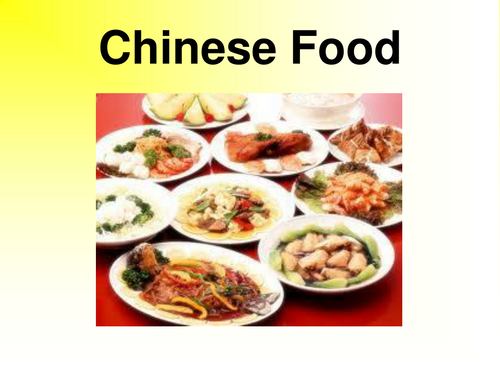 chinese food by mzs10 teaching resources tes