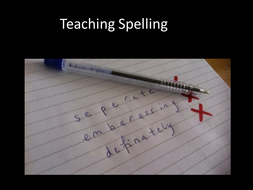 The Importance of Teaching Spelling