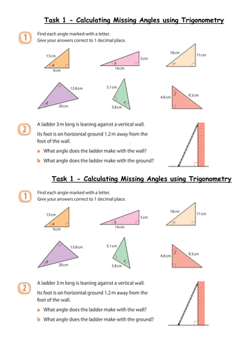 trigonometry missing angles grade b level 8 by whidds teaching resources tes. Black Bedroom Furniture Sets. Home Design Ideas
