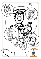 Colin the Coastguard's Red Nose Day Colouring Fun by