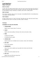 Cued spelling - Method and procedure