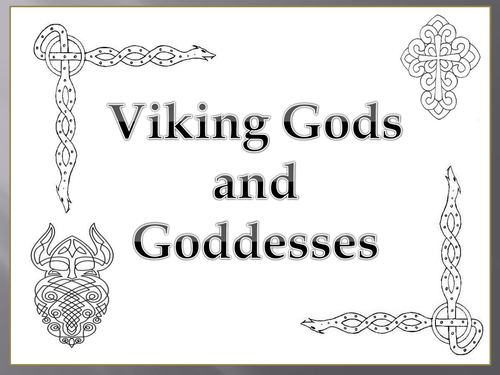 viking gods and goddesses by sarahprincess teaching resources tes. Black Bedroom Furniture Sets. Home Design Ideas